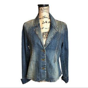 Levi's vintage blazer jean jacket size large